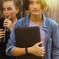 teenagers with wearable
