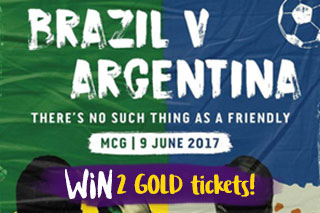 Win tickets to Brazil v Argentina