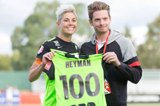 Michelle Heyman reaches W-League milestone