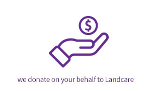 we donate to landcare on your behalf