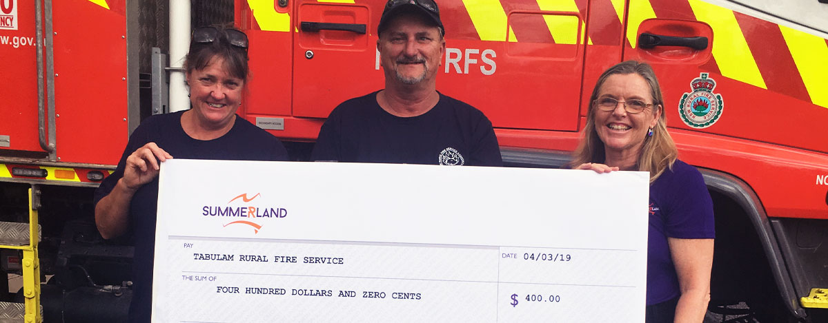 Tabulam Fire Service Donation