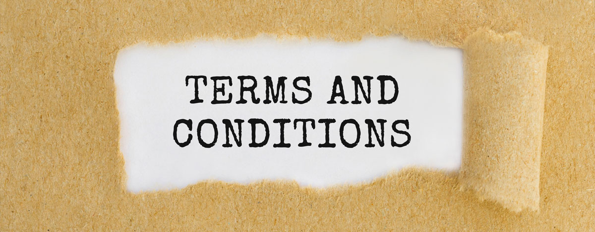 Changes to Terms and Conditions Document