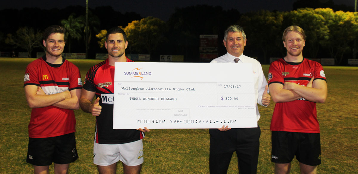 Rugby club converts $300 with Summerland