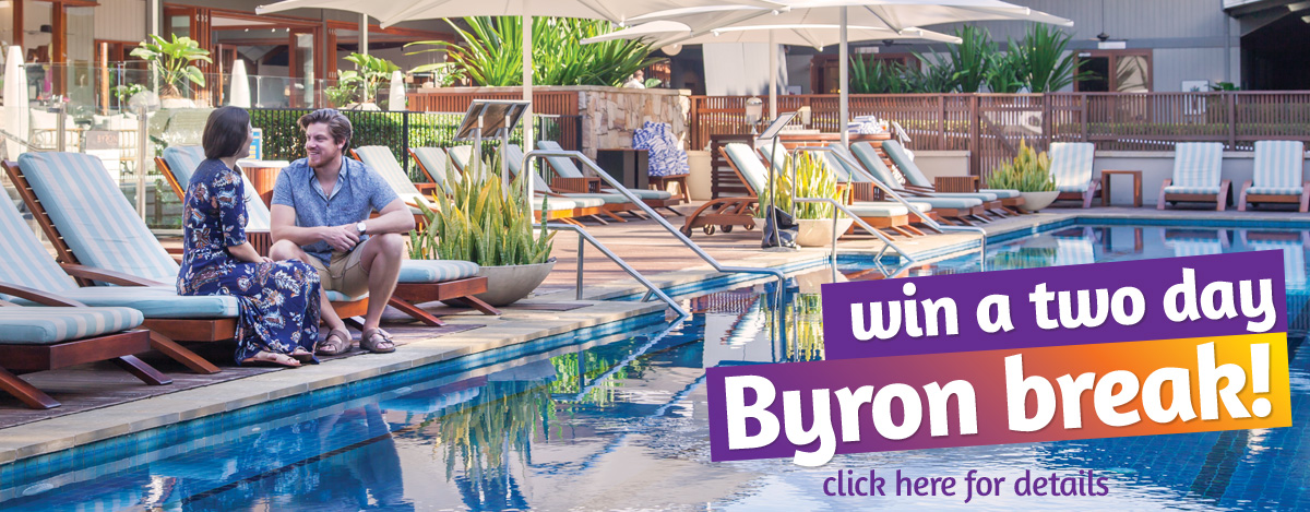 Win a 2 day break in Byron Bay